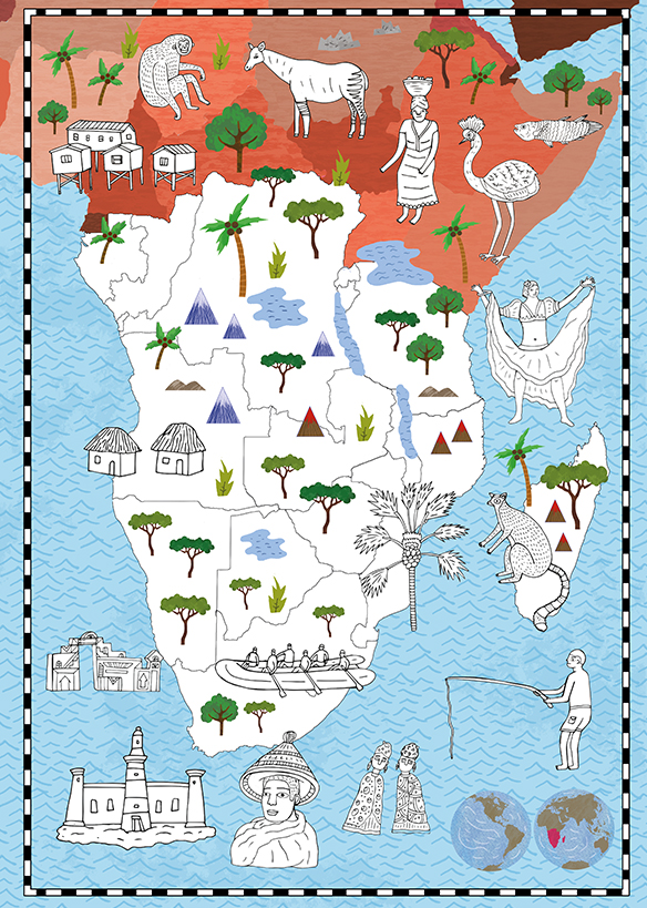 Natalie Hughes Illustration | The Map Colouring Book